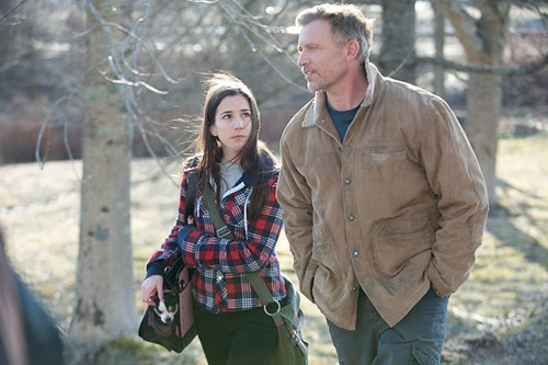 Callum Keith Rennie and Martha MacIsaac