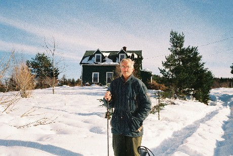 David Orton on his farm in Pictou County